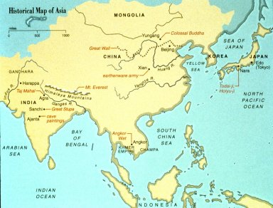 Historical Map of Asia