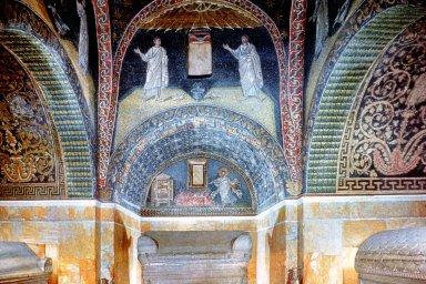Mausoleum of Galla Placidia: Apostles with Saint Lawrence
