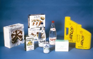 Packaging for Feminine Hygiene Products, Ice Cream Bars, Juice, Mineral Water, and Motor Oil