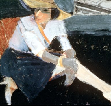 Woman with Hat and Gloves