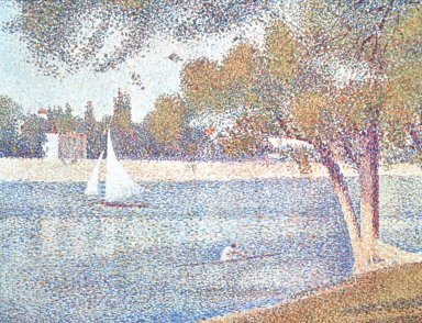 Seine at La Grande Jatte in the Spring