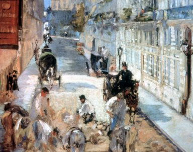 Road-Menders in the Rue Mosnier