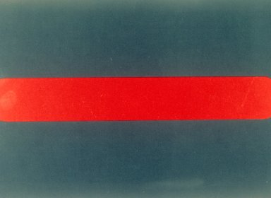 Untitled (two blue bars and one red bar)