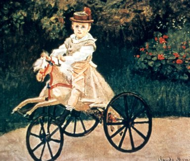 Jean Monet on a Mechanical Horse
