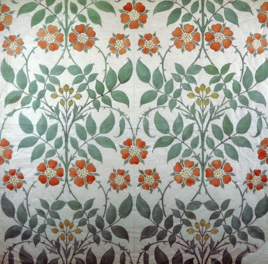 Wallpaper Design: Red and Yellow Flowers