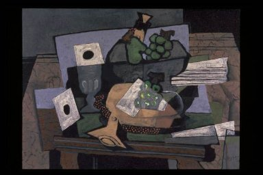 Still Life with Grapes and Clarinet