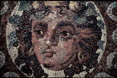 Optical Mosaic with Head of Dionysos (Bacchus)