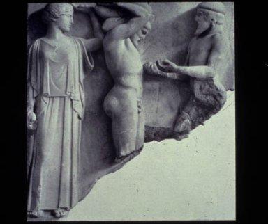 Athena, Herakles, and Atlas