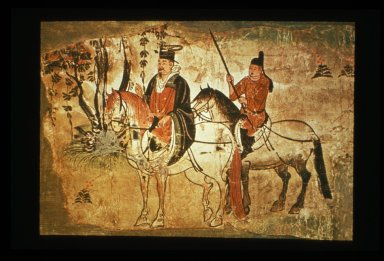 Dignitary with Servant on Horseback