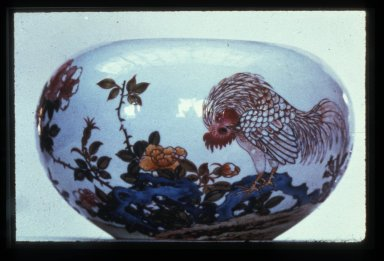 Bowl: Cock and Flowers