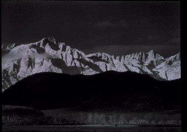 Winter Sunrise, the Sierra Nevada from Lone Pine, California