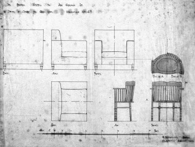 Upholstered Chair and Spindle Chair