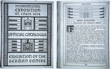Catalog for Exhibition of the German Empire: International Exposition
