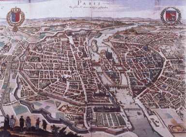 Aerial Map of Paris