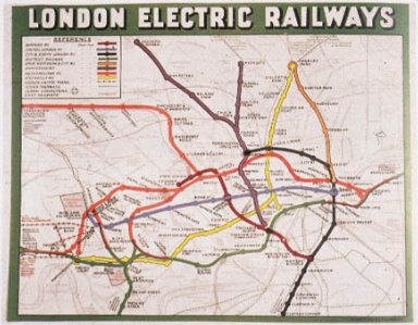 London Electric Railways Map