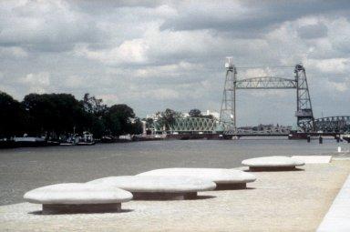 Erasmus Bridge 'Mushroom' Sculptures and De Hef (Bridge)