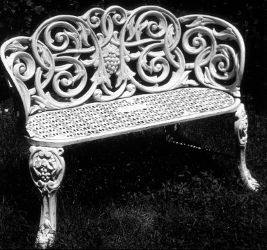 Settee with Grape Vine Motif