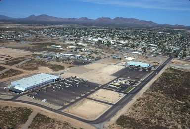 Walmart at Edge of Town, Douglas, Arizona