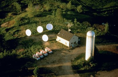 Cable Company on Farm Signals Change in Land Use, Jericho, Vermont