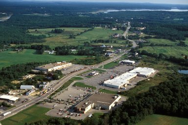 Strip Malls East of Downtown, Exeter, New Hampshire