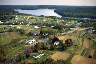 Subdivision Overlays Farmland, North Andover, Massachusetts