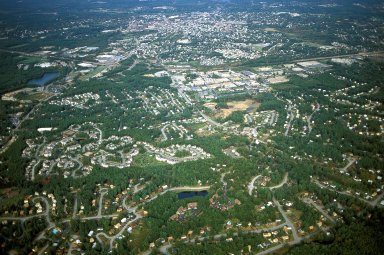 Suburban Growth Around Mill Town, Nashua, New Hampshire