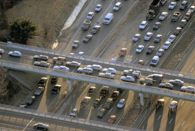 Traffic on Route 128, Burlington, Massachusetts