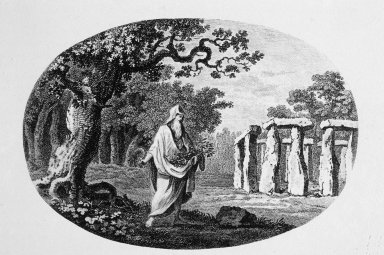 Stonehenge: 19th Century Drawing of a Druid