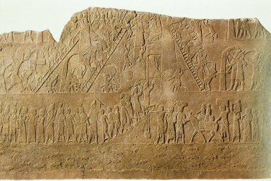 Palace of Ashurbanipal: The Assyrian Army Attacking a Town in Egypt