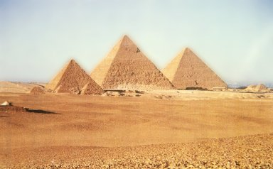 Great Pyramids: Menkaure (Mycerinus), Khafre (Chefren), and Khufu (Cheops)