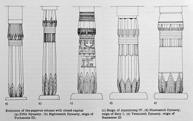 Egyptian Columns: Evolution of the Papyrus Column with Closed Capital