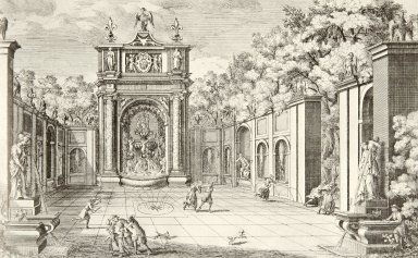 Engraving of the Fountain of the Owl (at Villa d'Este)