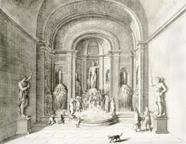 Engraving of the Grotto of Bacchus (at Villa d'Este)