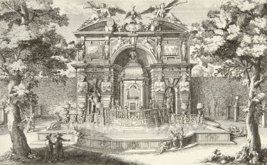 Engraving of the Water Organ (at Villa d'Este)