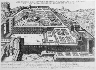 Belvedere Court and Vatican Gardens