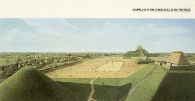 Hypothetical Reconstruction of Monks Mound and the Central Plaza, Cahokia