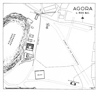 Plan of Agora in the Archaic Period