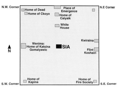 Diagram of the World of the Sia Keresan Pueblo, New Mexico