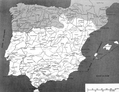 Area of Islamic Influence on the Iberian Peninsula