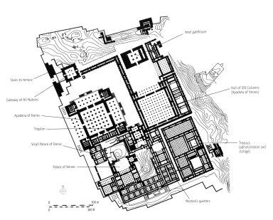 Plan of Persepolis