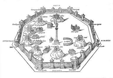 Map of Ancient Rome: the Republican City Under Servius Tullius