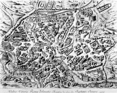 Map of Ancient Rome During the Reign of Septimius Severus
