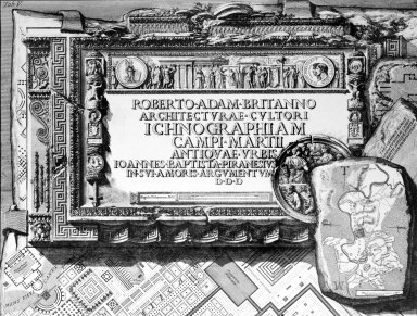 Map of the Campus Martius, with a Dedication to Robert Adam