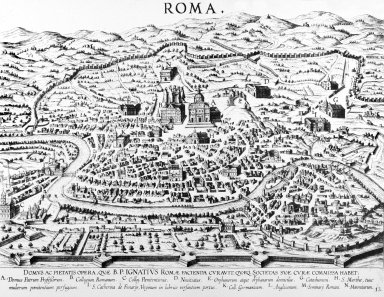 Map of Renaissance Rome in the Area of the Roman College