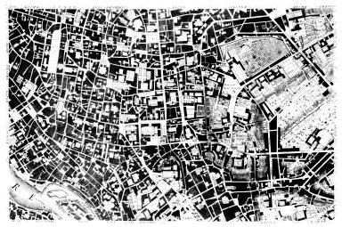 Map of 18th Century Rome: the Center of the City