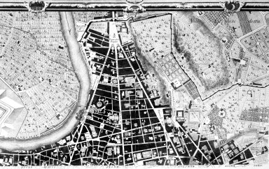 Map of 18th Century Rome in the Area of the Piazza del Popolo