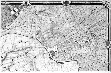 Map of 18th Century Rome in the Area of the Porta Salaria and Porta Pia