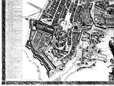 Map of 18th Century Rome in the Area of the Vatican