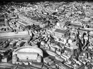 Model of Imperial Rome at the Time of Constantine: the Area of the Theater of Marcellus