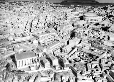 Model of Imperial Rome at the Time of Constantine: in the Area of the Forums and Colosseum